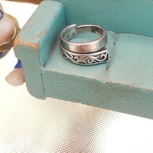 Vintage Sterling Filigree Ring